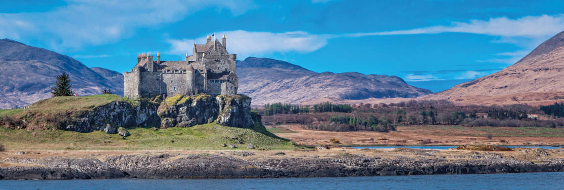 View of Duart castle from the sea